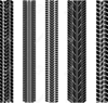 Motorcycle Tire Tracks Clipart Image