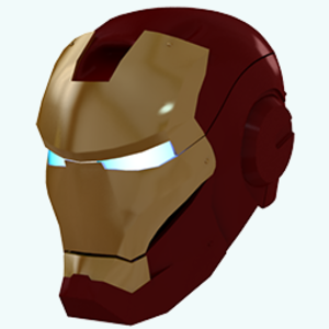 Gold Iron Man Mask Icon Image