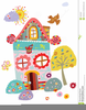 Animated Bird Houses Clipart Image