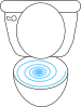 Swirly Toilet Clip Art