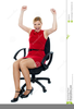 Woman Sitting On Chair Clipart Image