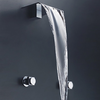 Contemporary Rectangular Spout Wall Mounted Double Handles Bathtub Faucet--faucetsuperdeal.com Image