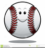 Smiley Face Baseball Clipart Image