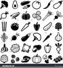 Free Clipart Vegetables Black And White Image