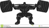 Clipart Weightlifter Image