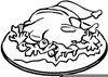 Cinco De Mayo Black And White Clipart Image