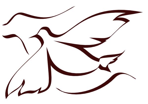 Holy spirit dove clipart black and white - photo#3