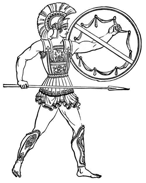 ancient greek coloring pages - photo#34