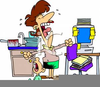 Overworked Housewife Clipart Image