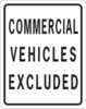 Commercial Vehicles Excluded Clip Art