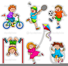 Kids Playing Video Games Clipart Image