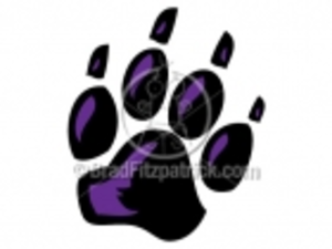 A Panther Paw Clipart Image