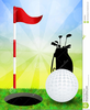 Putting Green Clipart Image