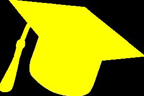 8d3886ad232 Graduation Hat Silhouette Yellow Clip Art at Clker.com - vector clip ...