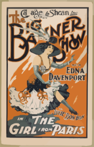 Callager & Shean, Inc. Present The Big Banner Show With Edna Davenport As Julie Bonbon In The Girl From Paris Clip Art