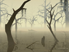 Spooky Creek Clipart Image