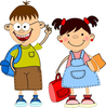 Stick Figure Boy And Girl Clipart Image