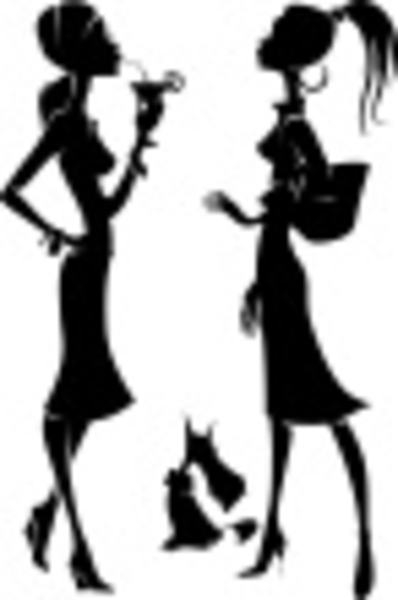 two stylish girls free images at clkercom vector clip