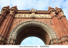 Stock Photo Triumph Arch Arc De Triomf Barcelona Spain Image