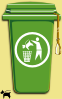 Dog Trash Can Clip Art