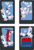 Hanafuda Sakura March Clip Art