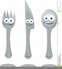 Spoon Fork Knife Clipart Image