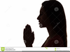 Black Woman Praying Clipart Image