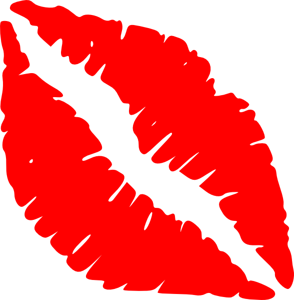 red lips kiss clip art at clker com vector clip art online rh clker com  kissing lips clipart