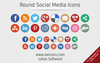 Round Social Media Icons Image