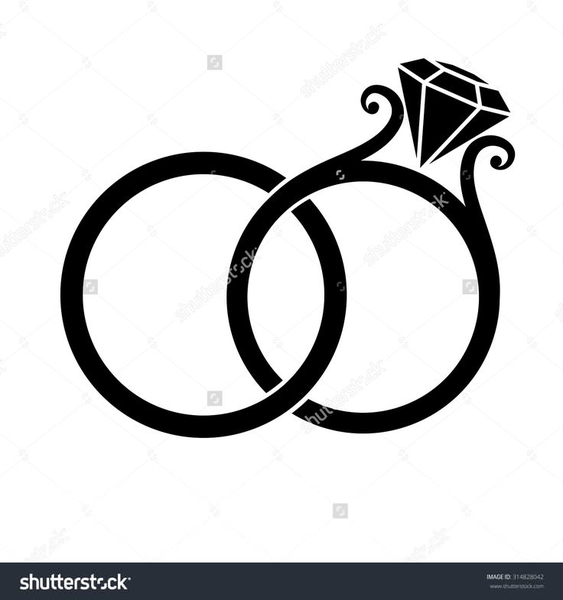 Wedding Rings Clipart.Intertwined Wedding Rings Clipart Free Images At Clker Com