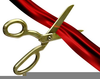 Free Ribbon Cutting Clipart Image