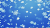 Blue Snowflake Clipart Image