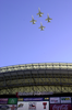 A Formation Of Navy F/a-18 Hornets Flys Over The Ev1.net Houston Bowl At Reliant Stadium In Houston, Texas. Image