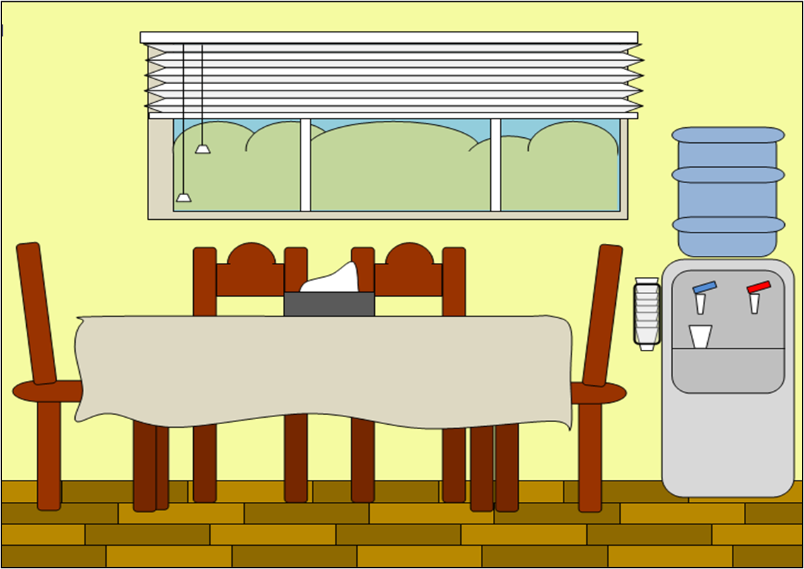 Kitchen Room Cartoon