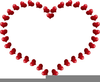 Free Clipart Silver Hearts Image