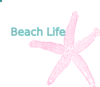 Coral Starfish - Beach Life Sign Clip Art