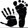Baby Hand Footprint Clipart Image