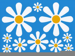 Clipart Psycodelic Flowers Daisies Image