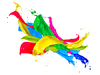 Paint Splash Colors Design Image