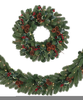 Christmas Wreaths And Garlands Clipart Image