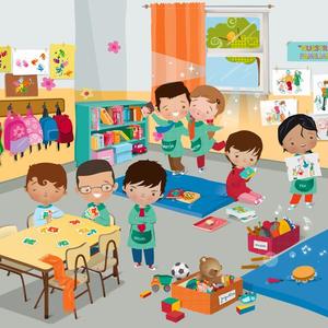 Cartoon Classroom | Free Images at Clker.com - vector clip ...