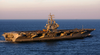 Uss Ronald Reagan (cvn 76) Exits The Chesapeake Bay Image