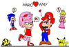 Mario Sonic Olympic Games Clipart Image