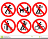 Cycling Road Signs Clipart Image