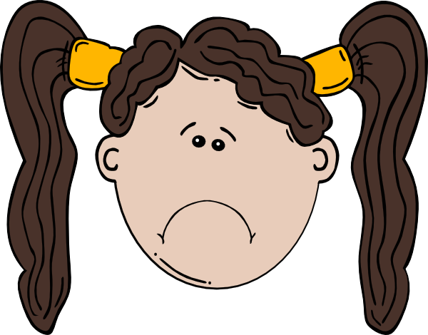 Sad Girl clip artSad Little Girl Clipart