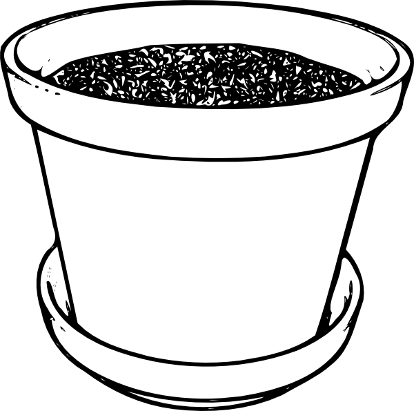 Flowerpot With Soil Clip Art At Clker