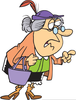 Grouchy Woman Clipart Image