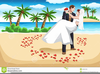 Beach Wedding Couple Clipart Image
