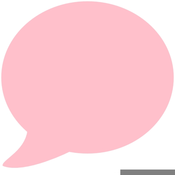 Thought bubble pink. Speech free images at