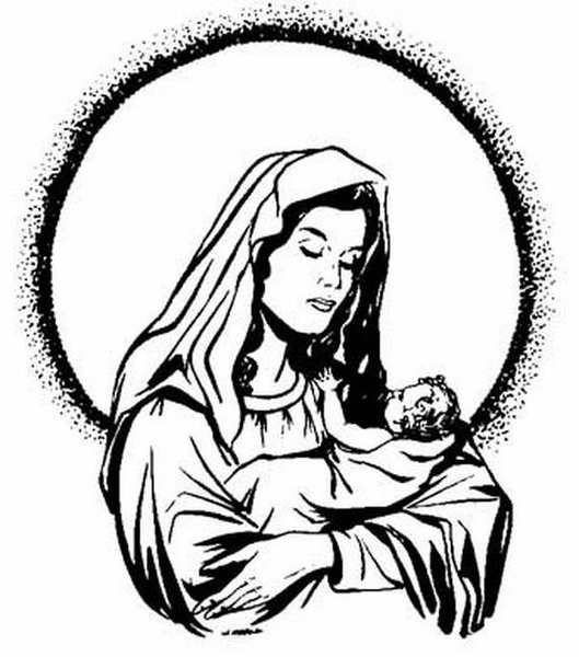 Immaculate Conception Clipart Free Images At Clkercom Vector
